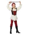 Piraten kostuum rood zwart voor meisjes