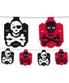 Piraten vlaggenlijn zwart rood