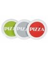 Pizzabord grijs met witte rand 30 cm