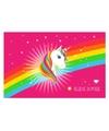 Placemat eenhoorn regenboog 44 x 28 cm