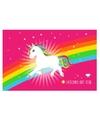 Placemat witte eenhoorn 44 x 28cm
