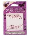 Plak diamantjes roze voor gezicht