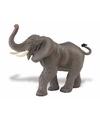 Plastic afrikaanse olifant 16 cm met gestrekte slurf