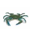 Plastic blauwe zwemkrab 18 cm