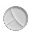 Plastic bordjes met vakjes wit 10 stuks