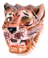 Plastic bruine tijger masker voor volwassenen