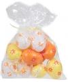 Plastic eieren bloemetje 12 stuks
