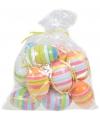 Plastic eieren streep 12 stuks