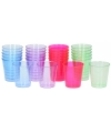 Plastic gekleurde shotglazen 25 ml