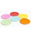 Plastic gele ontbijt bordjes 6 stuks