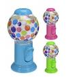 Plastic kauwgomballen automaat blauw