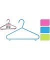 Plastic kledinghangers 6 delig