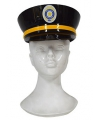 Plastic politiepet zwart volwassenen
