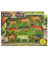 Plastic safari dieren 9 stuks