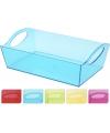 Plastic schaal blauw 26 cm