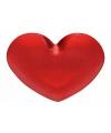 Plastic schaal rood hart