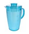 Plastic schenkkan met koelelement blauw