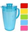 Plastic schenkkan met koelelement rood