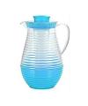 Plastic schenkkan met koelfunctie blauw