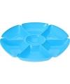 Plastic serveerbord blauw 29 cm