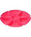 Plastic serveerbord fuchsia 29 cm