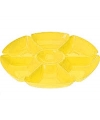 Plastic serveerbord geel 29 cm