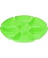 Plastic serveerbord groen 29 cm