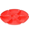 Plastic serveerbord rood 29 cm