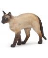 Plastic siamese kat staand 7 cm