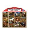 Plastic speelgoed paarden 12 stuks