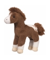 Pluche appaloosa paard donkerbruin 20 cm
