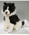 Pluche border colley hond knuffel 37 cm