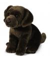 Pluche bruine labrador knuffel hond 26 cm