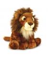 Pluche bruine zittende knuffel leeuw 30cm