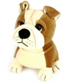 Pluche bulldog knuffel 16 cm