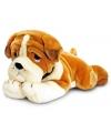 Pluche bulldog pup 120 cm