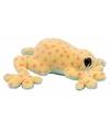 Pluche donker gele kikker knuffel 15 cm