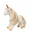 Pluche eenhoorn paarden knuffel lange manen 30 cm