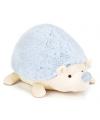 Pluche egel knuffel blauw 22 cm