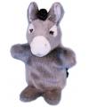 Pluche ezel handpop 28 cm