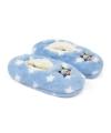 Pluche frozen pantoffels blauw