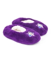 Pluche frozen pantoffels paars