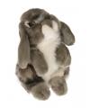 Pluche grijs hangoor konijn knuffel 18 cm