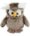 Pluche grijze uil knuffel 18 cm