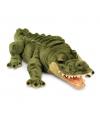Pluche groene liggende alligator krokodil 45cm
