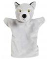 Pluche handpop wolf 22 cm