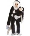 Pluche hangende aap met baby