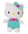 Pluche hello kitty groen 12 cm