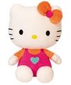 Pluche hello kitty roze 30 cm