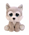 Pluche husky hond knuffel zittend 21 cm